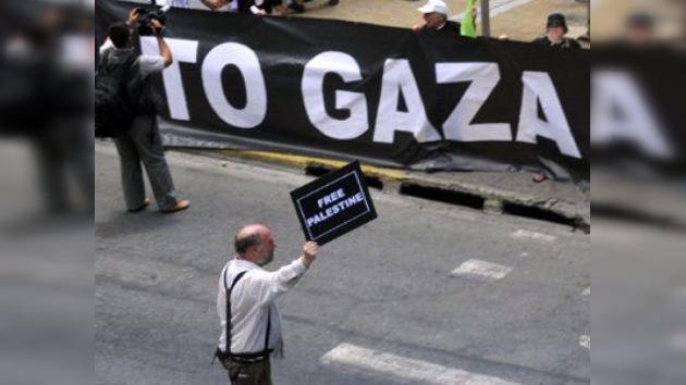 Primera embarcación de la Flotilla de la Libertad zarpa de Grecia rumbo a Gaza