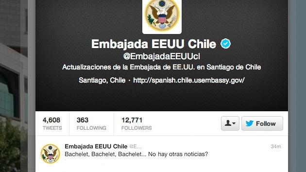 """Un tuit de la embajada de EE.UU. en Chile la lía: """"Bachelet... ¿No hay otras noticias?"""""""