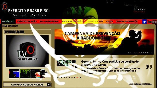 Anonymous se suma a las protestas en Brasil y 'hackea' la página web del Ejército