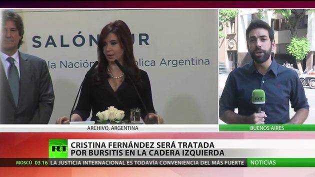 Cristina Fernández de Kirchner será tratada por bursitis