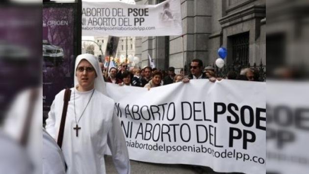 Grupos católicos se manifiestan en España en contra del aborto