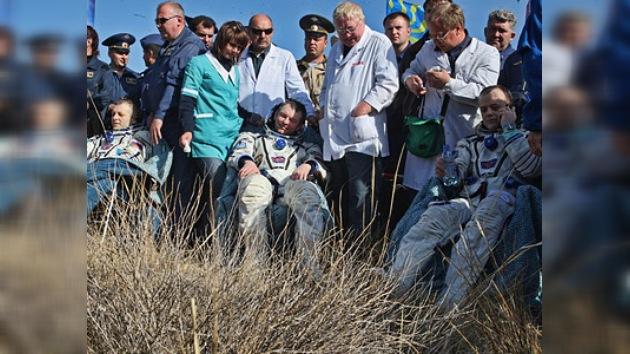 La 28ª tripulación de la Estación Espacial aterriza con éxito en Kazajistán