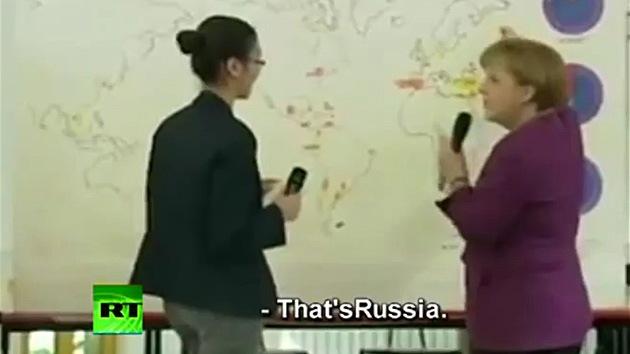 Merkel no sabe dónde está Berlín