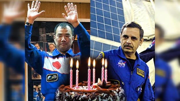 Doble cumpleaños en la Estación Espacial Internacional