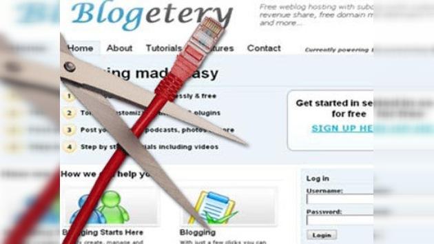 Autoridades estadounidenses cierran Blogetery por piratería