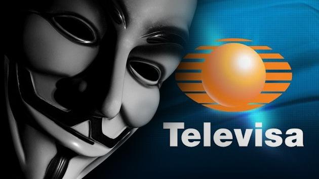 Anonymous y '#YoSoy132' llaman a ocupar Televisa por su 'teledictadura'