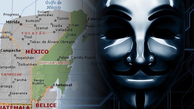 Anonymous ataca el sitio web de un estado mexicano