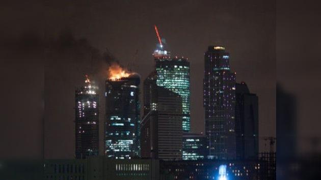 Se declara un incendio en el complejo de negocios ´Federación´, el más alto de Europa