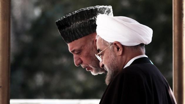 """Presidentes de Irán y Afganistán: """"Las fuerzas extranjeras deben salir de la región"""""""