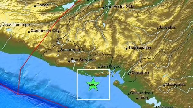 Un sismo de magnitud 4,8 sacude El Salvador