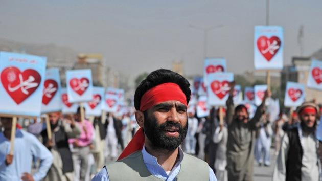 Miles de afganos protestan en Kabul contra la película antimusulmana