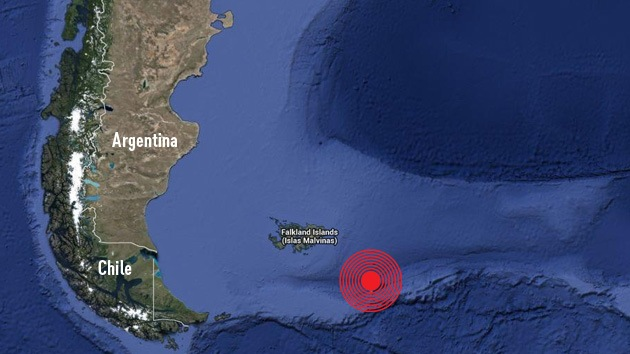 Un terremoto de 6,9 sacude el Atlántico sur, cerca de las Malvinas
