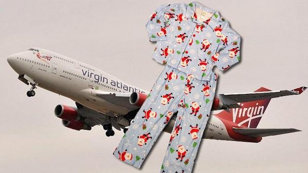 Obligan a contramaestre de la Marina británica a ponerse pijama para abordar vuelo