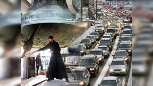 Campanadas como método de lucha contra atascos en Moscú