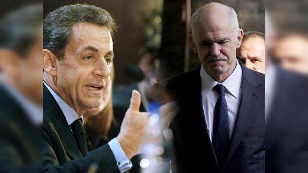 Las 'perlas' de Nicolas Sarkozy: ahora la toma con Papandreu