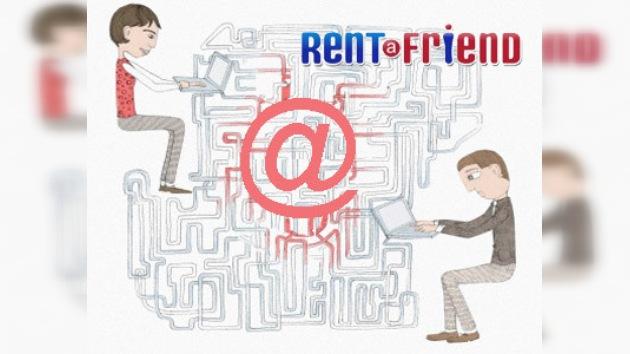 Una página web ofrece 'amigos de alquiler'