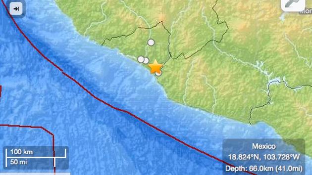 Un fuerte sismo sacude la costa oeste de México