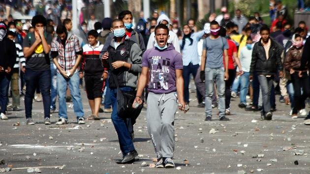 Protesta multitudinaria en el centro de El Cairo por acta presidencial
