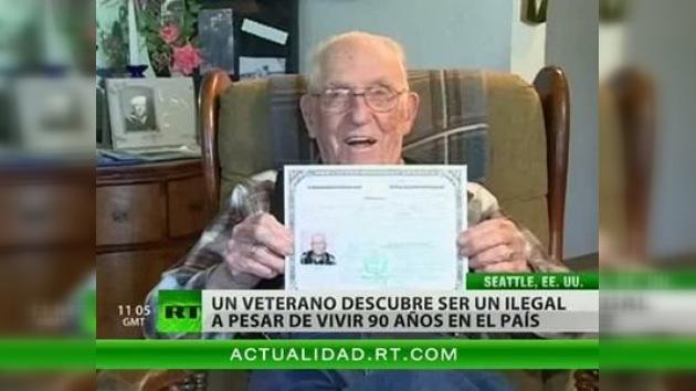 Un estadounidense tardó más de 90 años en recibir la ciudadanía