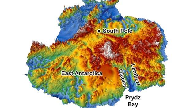 Un mapa en 3D muestra cómo fue la faz de la Antártida antes de la glaciación