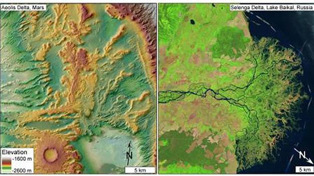 Hallan pruebas que demostrarían que Marte tenía cuencas fluviales