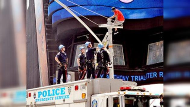 Un rapero siembra un caos circulatorio en la neoyorquina Times Square
