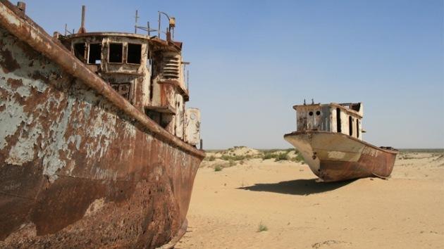 El desierto 'se bebe' el Mar de Aral, que ya ha perdido toda su cuenca oriental