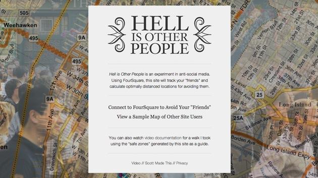 ¿Quiere evitar a sus amigos? Una aplicación muestra 'zonas seguras' para estar tranquilo