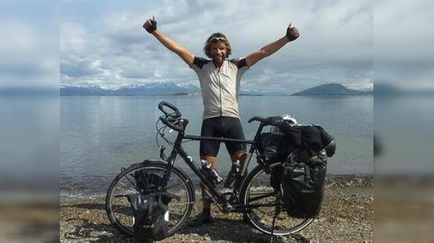 Trayecto Alaska–Ushuaia recorrido por ciclista en 268 días