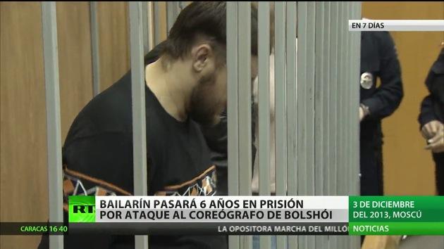 Seis años de prisión para el acusado por agredir con ácido al director artístico del Bolshói
