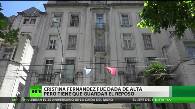 Dan de alta a la presidenta argentina Cristina Fernández de Kirchner