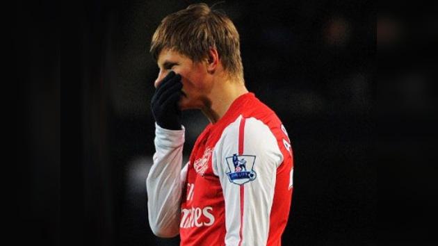 Andréi Arshavin, ignorado en el Arsenal y tentado por el Anzhí