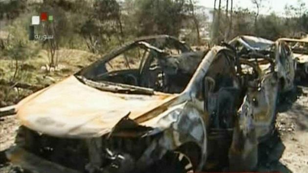 La televisión siria muestra imágenes de las consecuencias del presunto ataque israelí