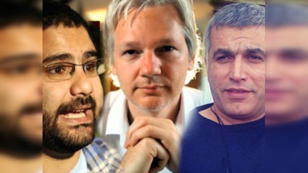 Assange levanta la cortina de la 'Primavera Árabe' en su nuevo programa en RT