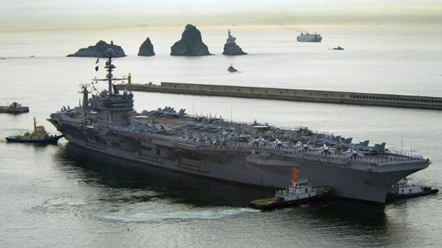 Buques de EE.UU. llegan a Corea del Sur para participar en ejercicios militares