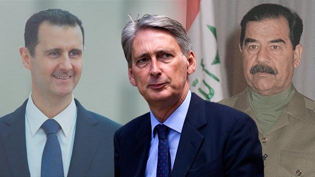El ministro británico de Defensa se lía: Confunde a Assad con Saddam Hussein