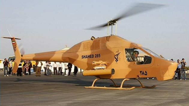 Irán presenta tres helicópteros de fabricación nacional