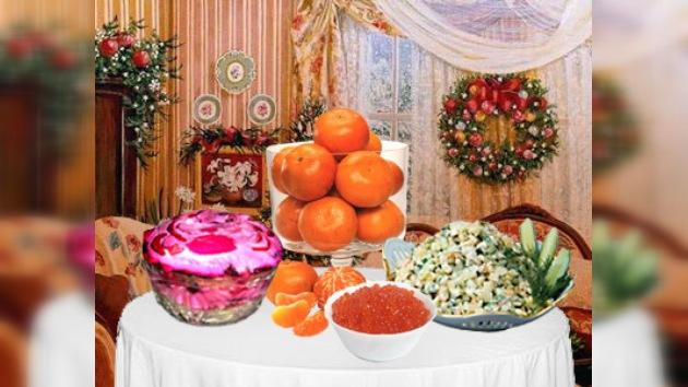 Mandarinas, ensalada rusa y cava – platos rusos principales de fin de año