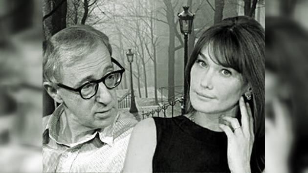 Woody Allen comenzó a rodar su nueva película en Francia con Carla Bruni