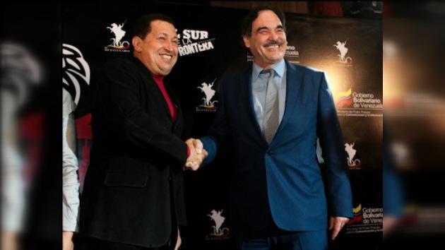 """Chávez en el estreno de """"Al Sur de la Frontera"""", de Oliver Stone"""