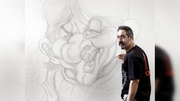 Lionel Messi será un gigante en una exposición del famoso caricaturista Joan Vizcarra
