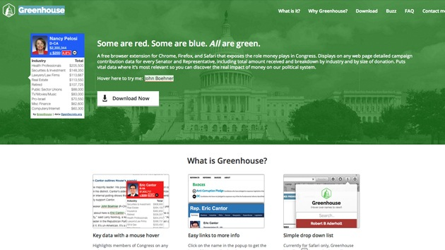 Crean un programa que muestra quién 'compra' a cada político de EE.UU.