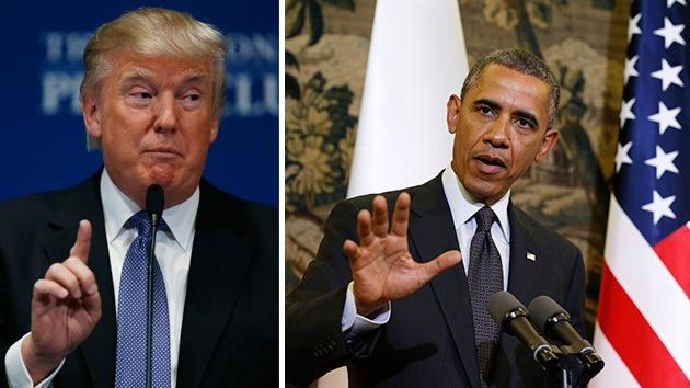 """Donald Trump: """"Obama es el peor presidente de la historia, está a punto de hacer algo malo"""""""