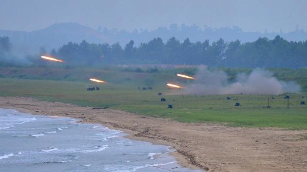 Corea del Norte lanza proyectiles contra las aguas surcoreanas