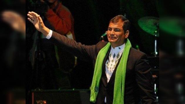 Rafael Correa llena un estadio para festejar su quinto aniversario en el poder