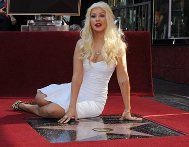 Christina Aguilera, nueva estrella de Hollywood