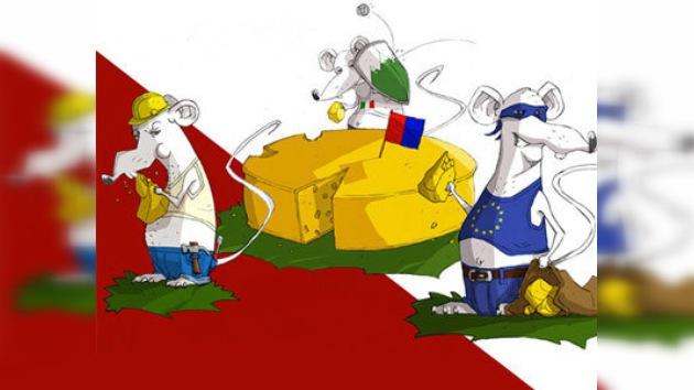 'Ratas' europeas se reparten un queso suizo en una campaña antimigratoria