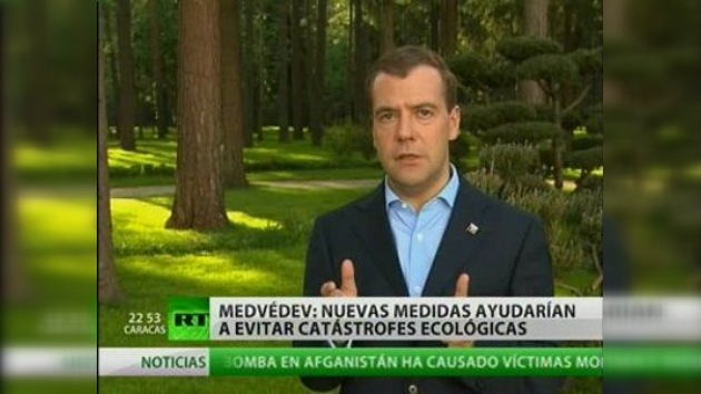 Medvédev expresa en su blog inquietud por la situación del golfo de México