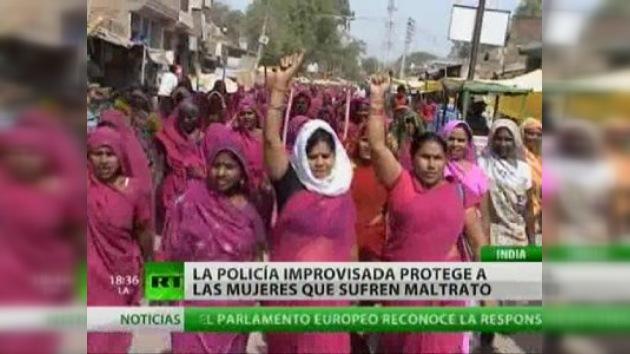 Movimiento femenino indio contra la violencia familiar y la corrupción