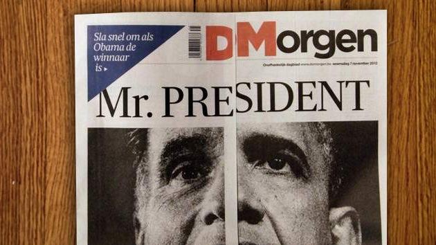 La prensa belga 'hace magia' para anunciar al ganador de las presidenciales en EE.UU.